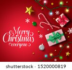 christmas vector in red... | Shutterstock .eps vector #1520000819