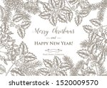 christmas card design. hand... | Shutterstock .eps vector #1520009570
