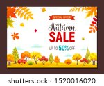 autumn sale banner with... | Shutterstock .eps vector #1520016020