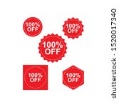 set of red discount sales label.... | Shutterstock .eps vector #1520017340