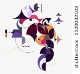 graphic composition of... | Shutterstock .eps vector #1520032103