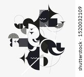 graphic black and white... | Shutterstock .eps vector #1520032109