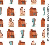 seamless pattern with cute... | Shutterstock .eps vector #1520038970