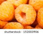 Yellow Raspberry Closeup Macro...