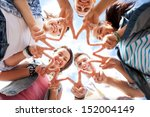 summer holidays and teenage... | Shutterstock . vector #152004149