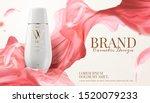 white skincare bottle ads with... | Shutterstock .eps vector #1520079233