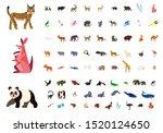 big vector set with animals in...   Shutterstock .eps vector #1520124650