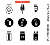 flash disk icon isolated sign...   Shutterstock .eps vector #1520127626