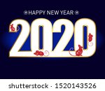 2020 chinese new year of the... | Shutterstock .eps vector #1520143526