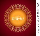 happy diwali background. vector ... | Shutterstock .eps vector #1520161640
