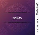 diwali hindu festival greeting... | Shutterstock .eps vector #1520161643