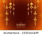 happy diwali festival of light ... | Shutterstock .eps vector #1520161649