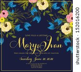 wedding invitation or card with ... | Shutterstock .eps vector #152016200