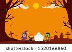 happy halloween background... | Shutterstock .eps vector #1520166860