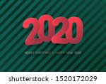 merry christmas and new year... | Shutterstock .eps vector #1520172029