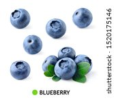 Blueberry. Blueberries Isolate...