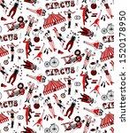 seamless circus pattern. vector ...   Shutterstock .eps vector #1520178950