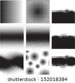 set of halftones background. vector illustration.    Shutterstock vector #152018384