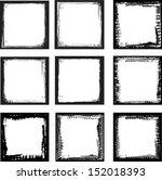 Set Of Grunge Frames. Vector...
