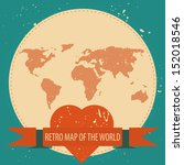 love the world. vector... | Shutterstock .eps vector #152018546