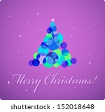pretty christmas card with... | Shutterstock .eps vector #152018648