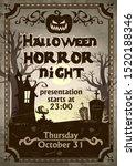 halloween night horror... | Shutterstock .eps vector #1520188346