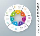 infographics design vector... | Shutterstock .eps vector #1520208236