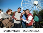 group of people happiness...   Shutterstock . vector #1520208866
