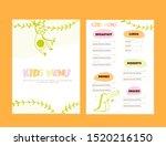kids menu doodle illustration... | Shutterstock .eps vector #1520216150