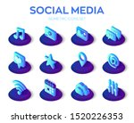 social media apps icons set....
