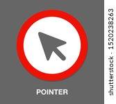 vector mouse cursor symbol  ...   Shutterstock .eps vector #1520238263