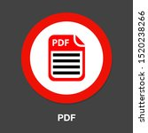 download pdf document icon  ... | Shutterstock .eps vector #1520238266