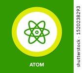 atom icon  atom vector symbol ... | Shutterstock .eps vector #1520238293