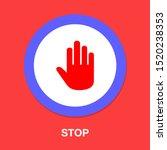 vector stop sign   hand... | Shutterstock .eps vector #1520238353