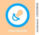 vector child pacifier... | Shutterstock .eps vector #1520238356