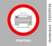 vector print icon   printing...   Shutterstock .eps vector #1520239136