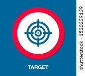 target goal icon  target focus... | Shutterstock .eps vector #1520239139