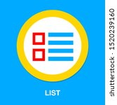 list icon   content view... | Shutterstock .eps vector #1520239160