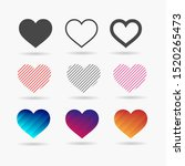 heart icon set. perfect love... | Shutterstock .eps vector #1520265473