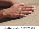 woman hand with engagement ring ... | Shutterstock . vector #152026589