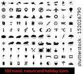 large set 100 of modern travel  ... | Shutterstock . vector #152026790