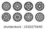arabesque circle  round element ... | Shutterstock .eps vector #1520275640