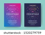 christmas party flyer event... | Shutterstock .eps vector #1520279759
