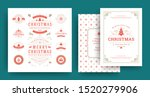 christmas labels and badges... | Shutterstock .eps vector #1520279906