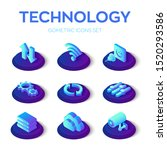 Isometric Technology Icons Set. ...