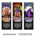 set of three halloween sale... | Shutterstock .eps vector #1520302256