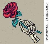 colorful skeleton hand holding...   Shutterstock .eps vector #1520305250