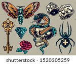 colorful tattoos composition... | Shutterstock .eps vector #1520305259