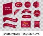 merry christmas scroll red.... | Shutterstock .eps vector #1520324696