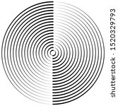 radiating  concentric circles... | Shutterstock .eps vector #1520329793